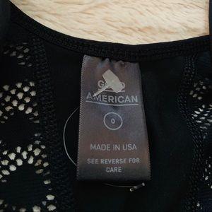 Good American Tops - New Good American Wild One Lace Bodysuit Black 0